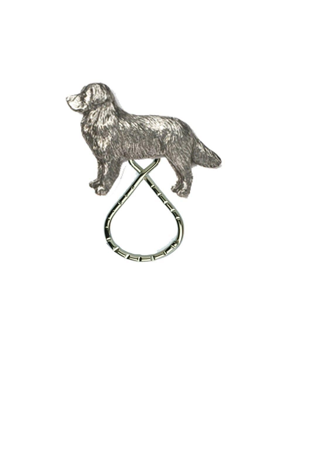 Bernese Mountain Dog Pewter Emblem On Brooch Drop Hoop