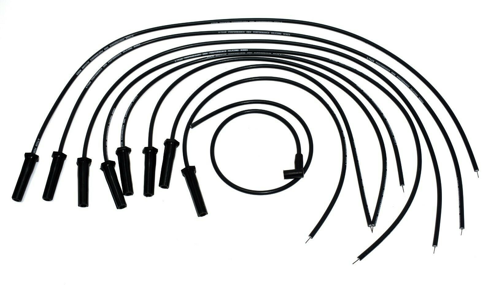 8 0mm Black Silicone High Performance Spark Plug Wire Set