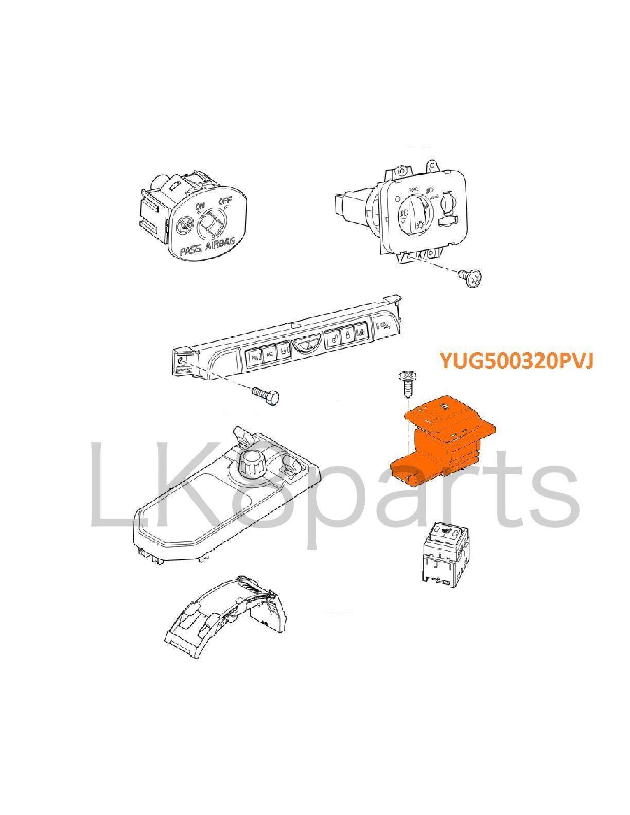 Land rover lr3 parking brake switch yug500320pvj genuine new