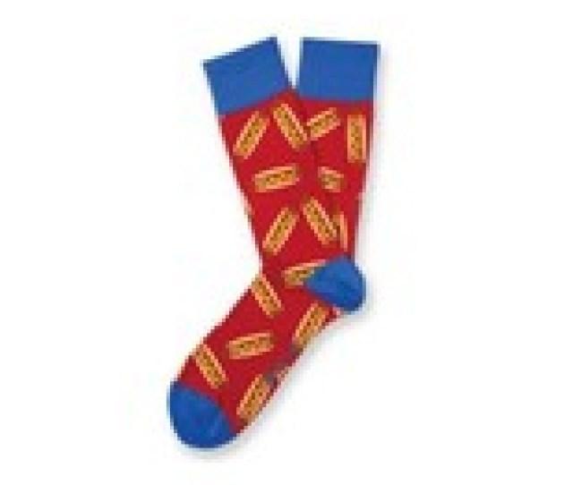 Hot Dog Fun Novelty Socks Two Left Feet Size Sml Med Dress Sox Casual My