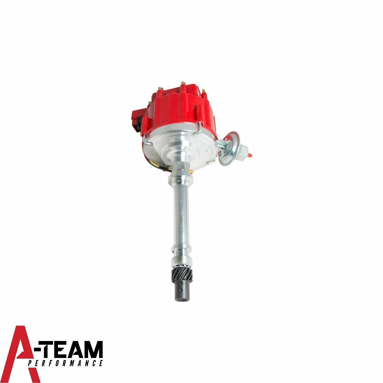 Sbc Chevy 283 350 Hei Distributor Red 8mm Spark Plug