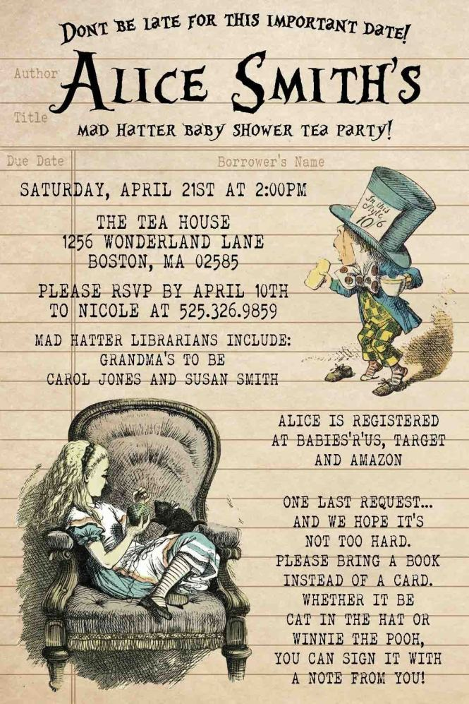 Alice In Wonderland Vintage Baby Shower And 50 Similar Items