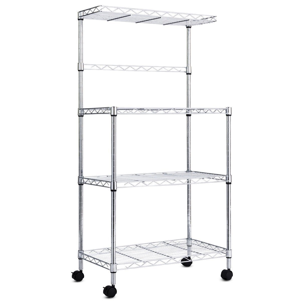 3 Tier Kitchen Microwave Baker Stand Storage Cart Rack