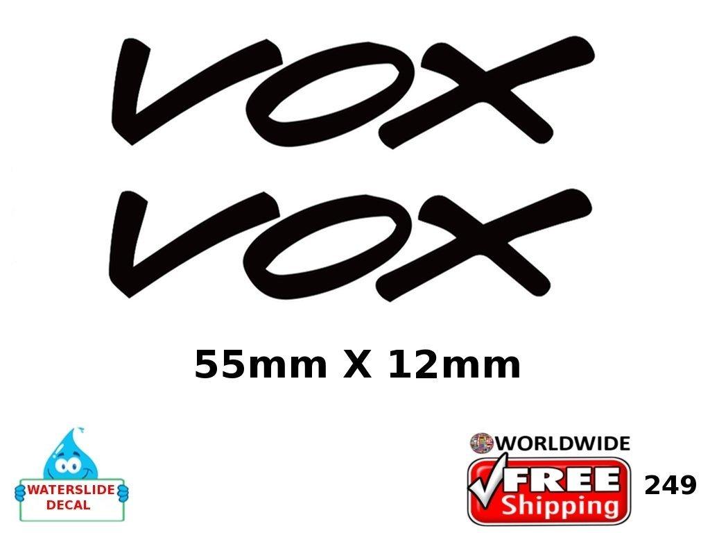 Vox Guitar Decal Inlay Headstock Sticker Waterslide Logo