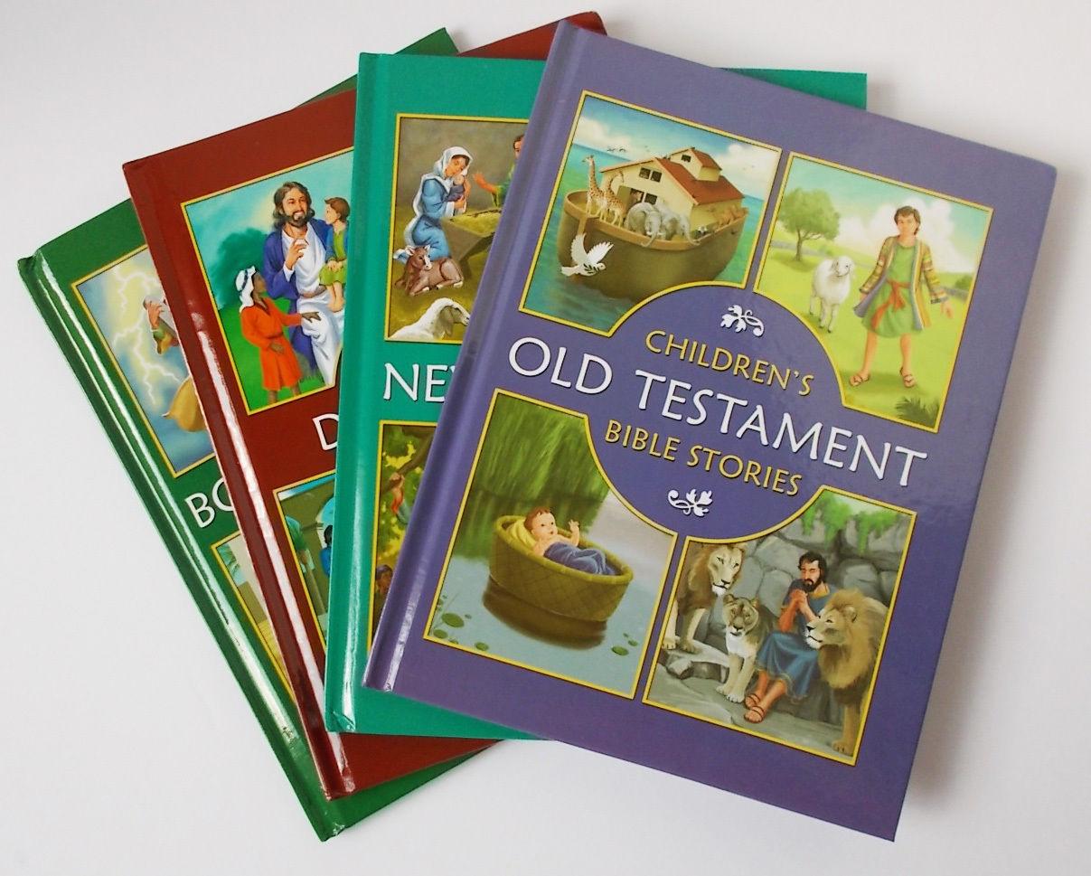 Children S Bible Stories 4 Books New Amp Old Testament