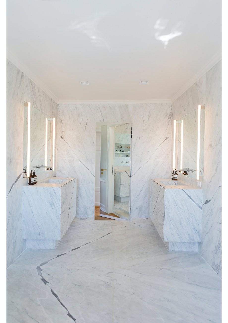 Inspirasjon bad   Vakre bad med matt marmor, mikrosement ...