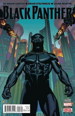 Black Panther #1 comic book cover. Support Independent Bookstores - Visit IndieBound.org