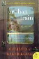 ORPHAN TRAIN by Christina Baker Kline, via indiebound.org