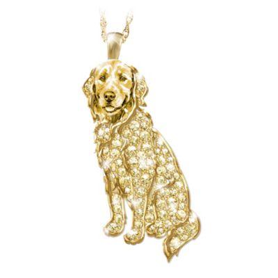 Best In Show Crystal Pendant Necklace Golden Retriever