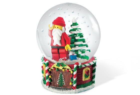 4287 2 Santa Minifigure Snow Globe Brickset LEGO Set