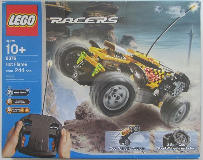 8376 1 Hot Flame RC Car Brickset LEGO Set Guide And