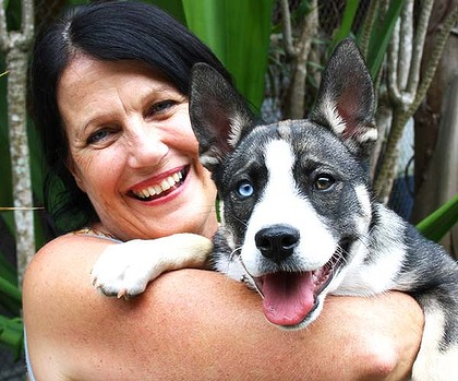 Denise Bradley with Ripley who was surrendered to at birth through through Cthe ommunity Vet Clinic at Coombabah.
