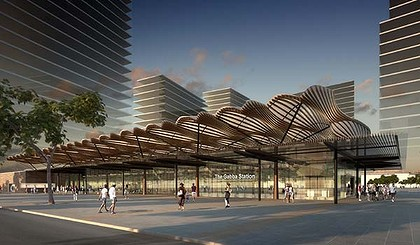 A conceptual image of the Woolloongabba station.