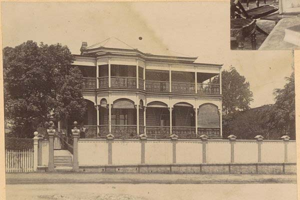 The Belvedere as it was originally built, with open verandahs. It was first called Bandarra.