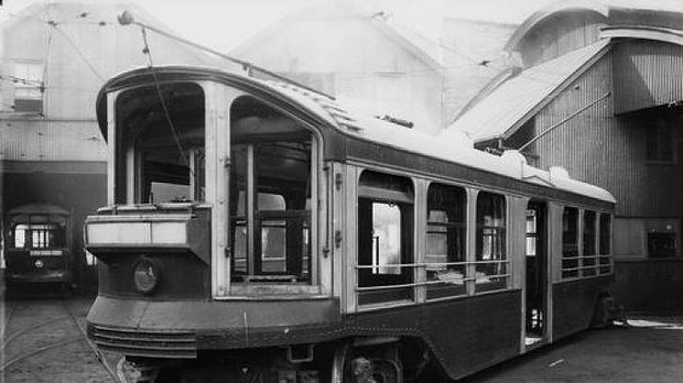 A Brisbane tram, in the era when they still roamed  the city's streets.