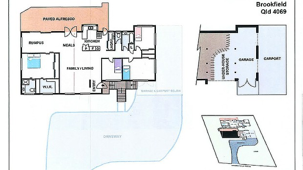 The lay-out of the Baden-Clay home.