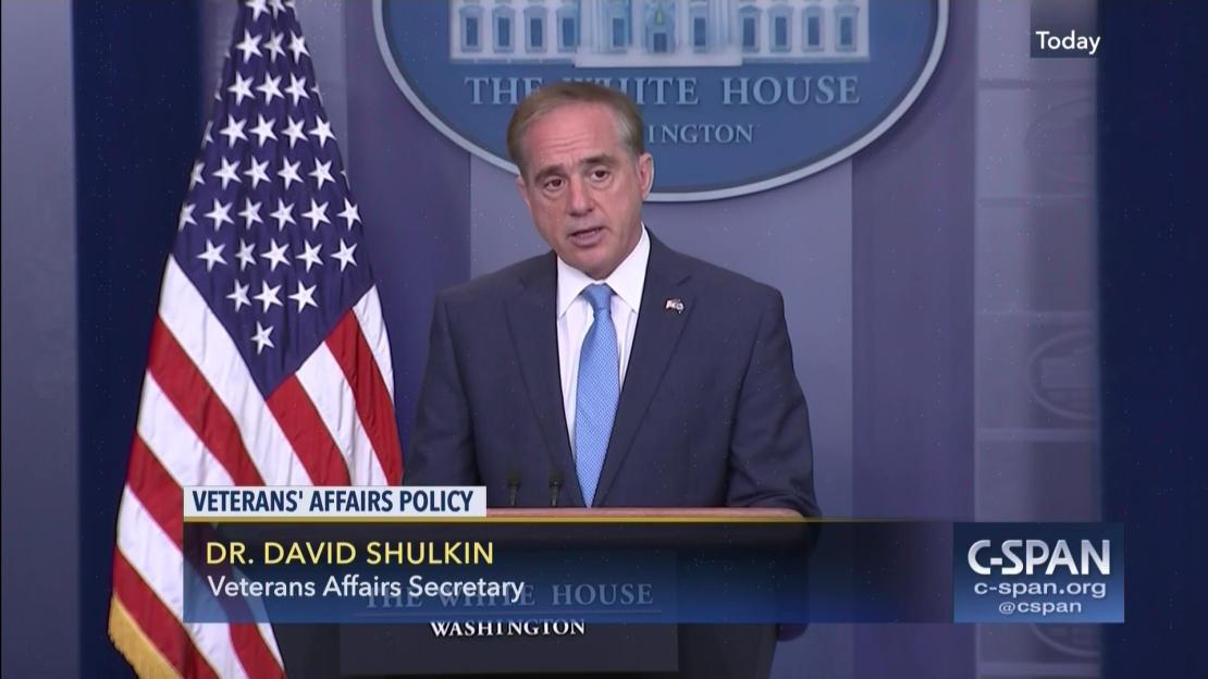 Image result for Department of Veterans Affairs (VA) Secretary Dr. David Shulkin