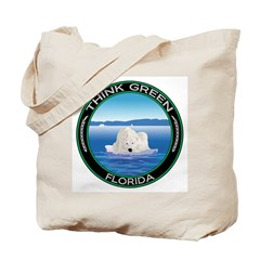 Environmental Polar Bear Florida Tote Bag