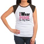 I Wear Pink For My Mom Women's Cap Sleeve T-Shirt