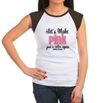 Breast Cancer Cure Women's Cap Sleeve T-Shirt