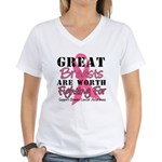 Great Breasts Women's V-Neck T-Shirt