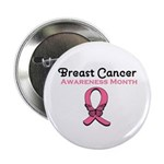 "Breast Cancer Awareness Month 2.25"" Button (10 pac"