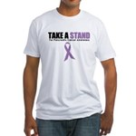 Pancreatic Cancer Stand Fitted T-Shirt