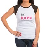 Just Hope Breast Cancer Women's Cap Sleeve T-Shirt