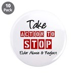 "Elder Abuse Awareness 3.5"" Button (10 pack)"