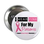 "Pink Ribbon Breast Cancer 2.25"" Button (10 pack)"