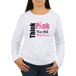 Think Pink Aunt Women's Long Sleeve T-Shirt