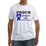 Caregiver Blue Ribbon Fitted T-Shirt