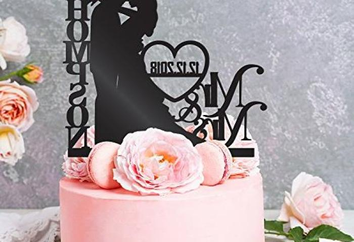 Personalized Wedding Cake Toppers Mr And Mrs Cake
