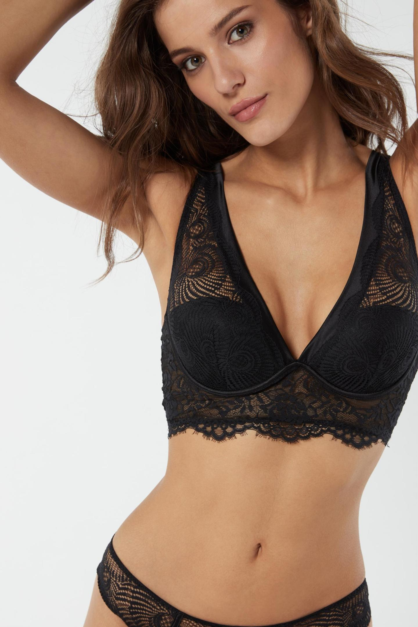 INTIMISSIMI – LINGERIE « GREEN  » DENTELLE NOIR PUSH UP