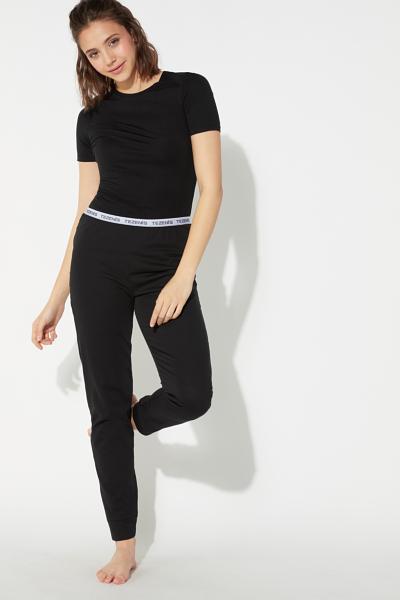Pantalone Lungo in Cotone Logo