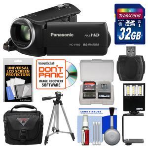 Panasonic Hc-v160 Hd Wi-fi Video Camera Camcorder With 32gb