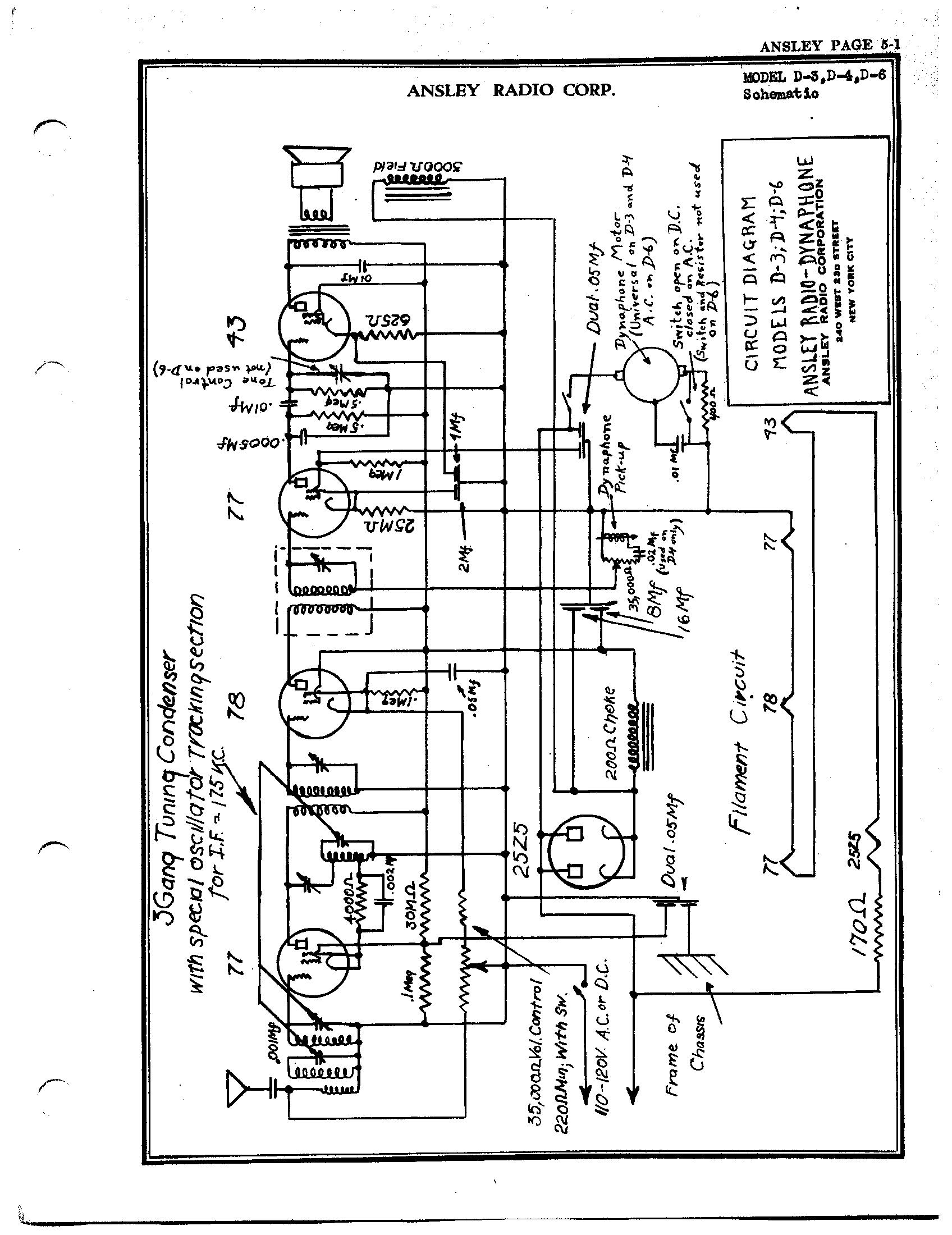 Ansley Radio Corp D 6