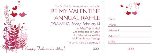 Valentines Gift Basket Raffle Flyer