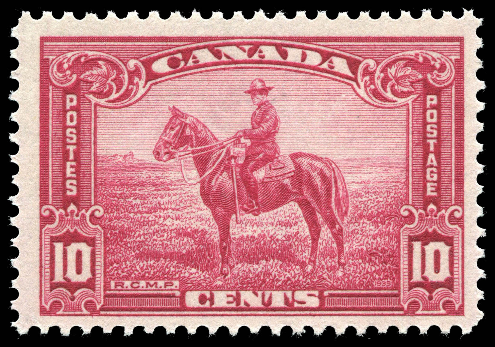 Royal Canadian Mounted Police Constable On Horseback