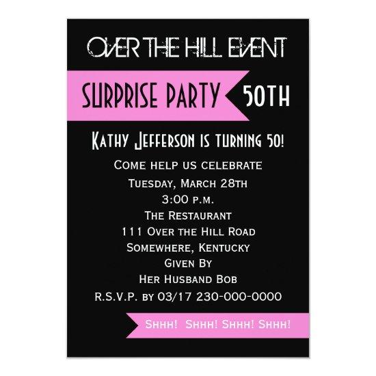 Surprise 50th Birthday Party Invitation Candied Clouds