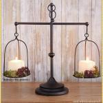 Modern Shabby Chic Besti Vintage Pillar Candle Holders Modern Kitchen Living Room Decorations Tall Dining Decorative