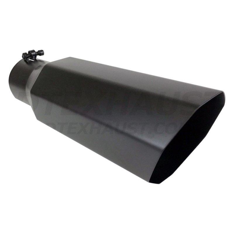 different trend bq8 4618bk black powder coated series octagon slant cut exhaust tip 4 inlet 6 outlet 18 length