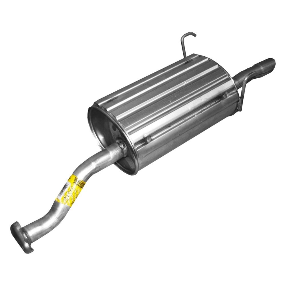 walker quiet flow stainless steel oval aluminized exhaust muffler and pipe assembly