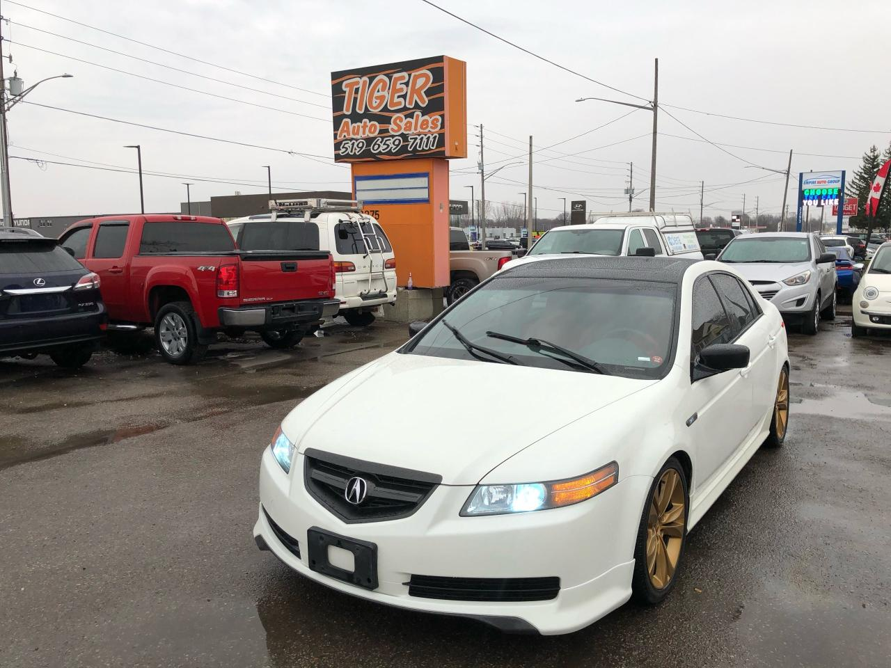 used 2005 acura tl red leather sub