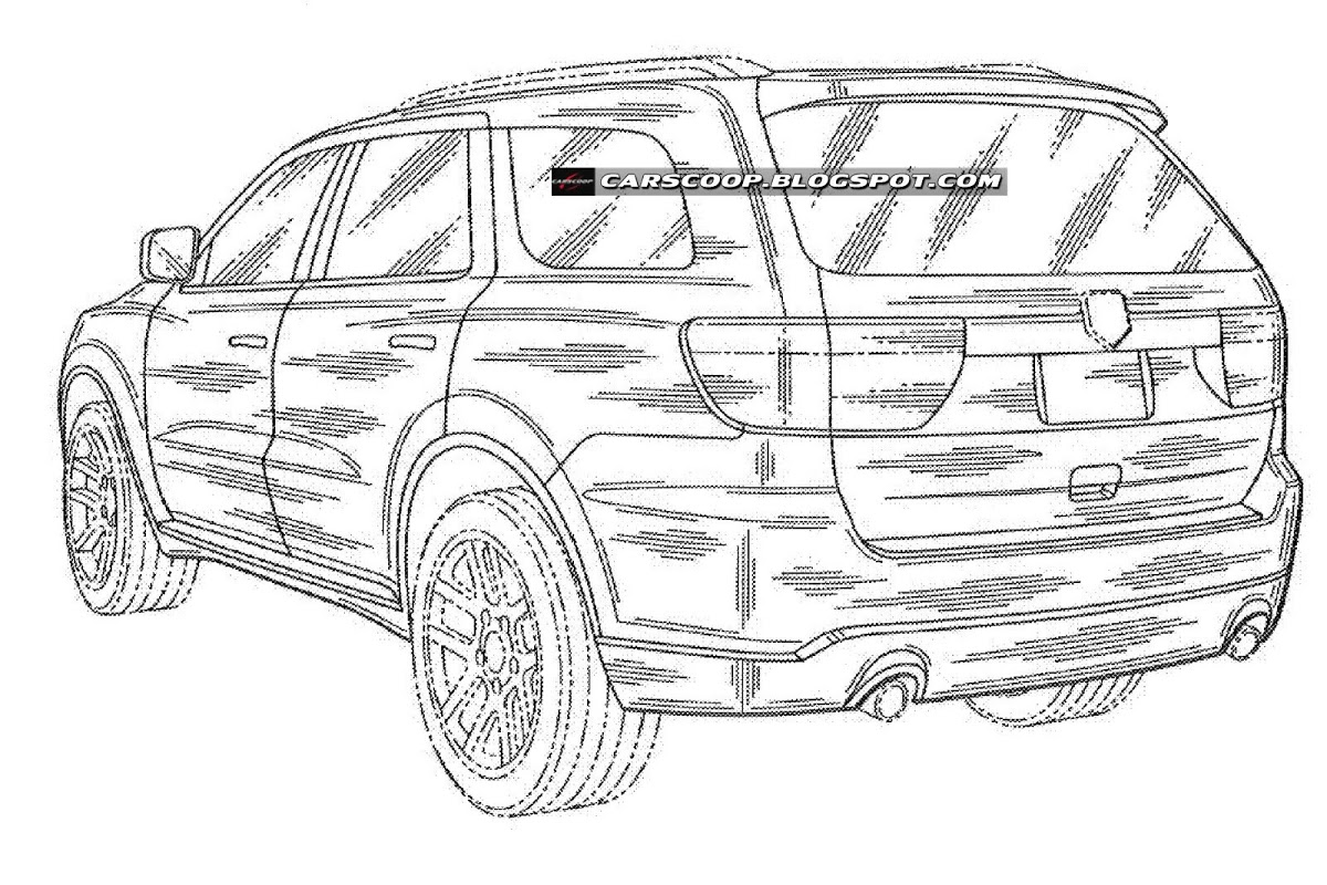 Dodge Durango Suv Pictured In U S Patent Drawings