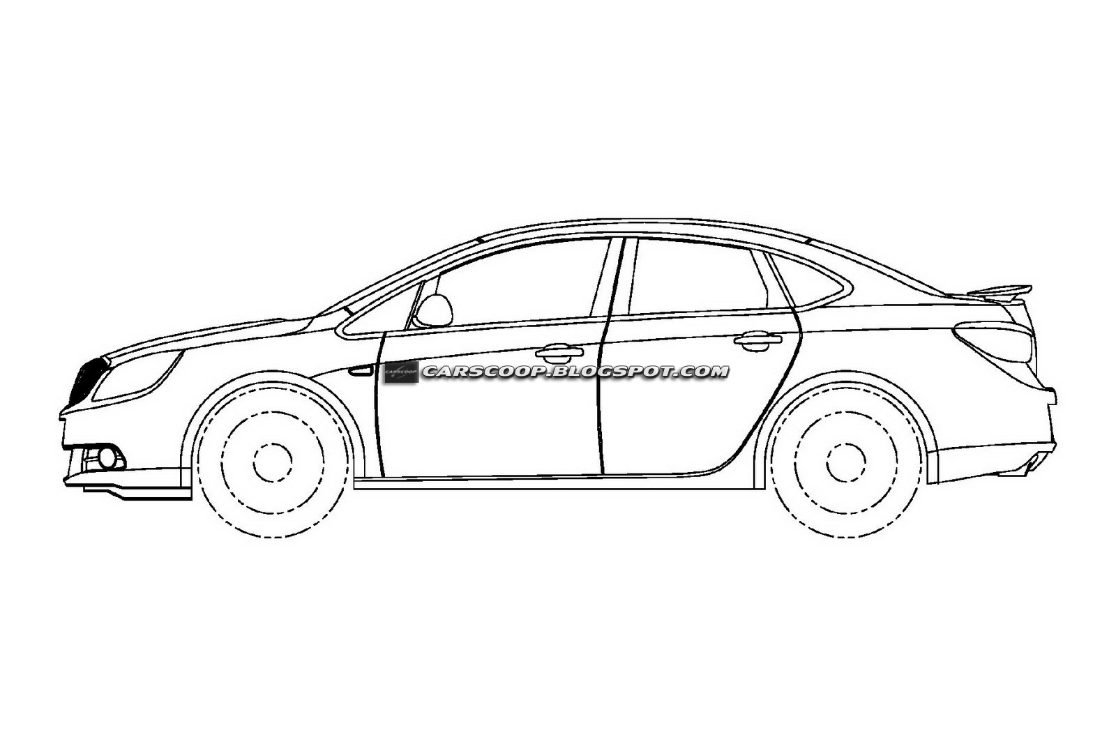 U S Patent Drawings Of Buick Excelle Sedan