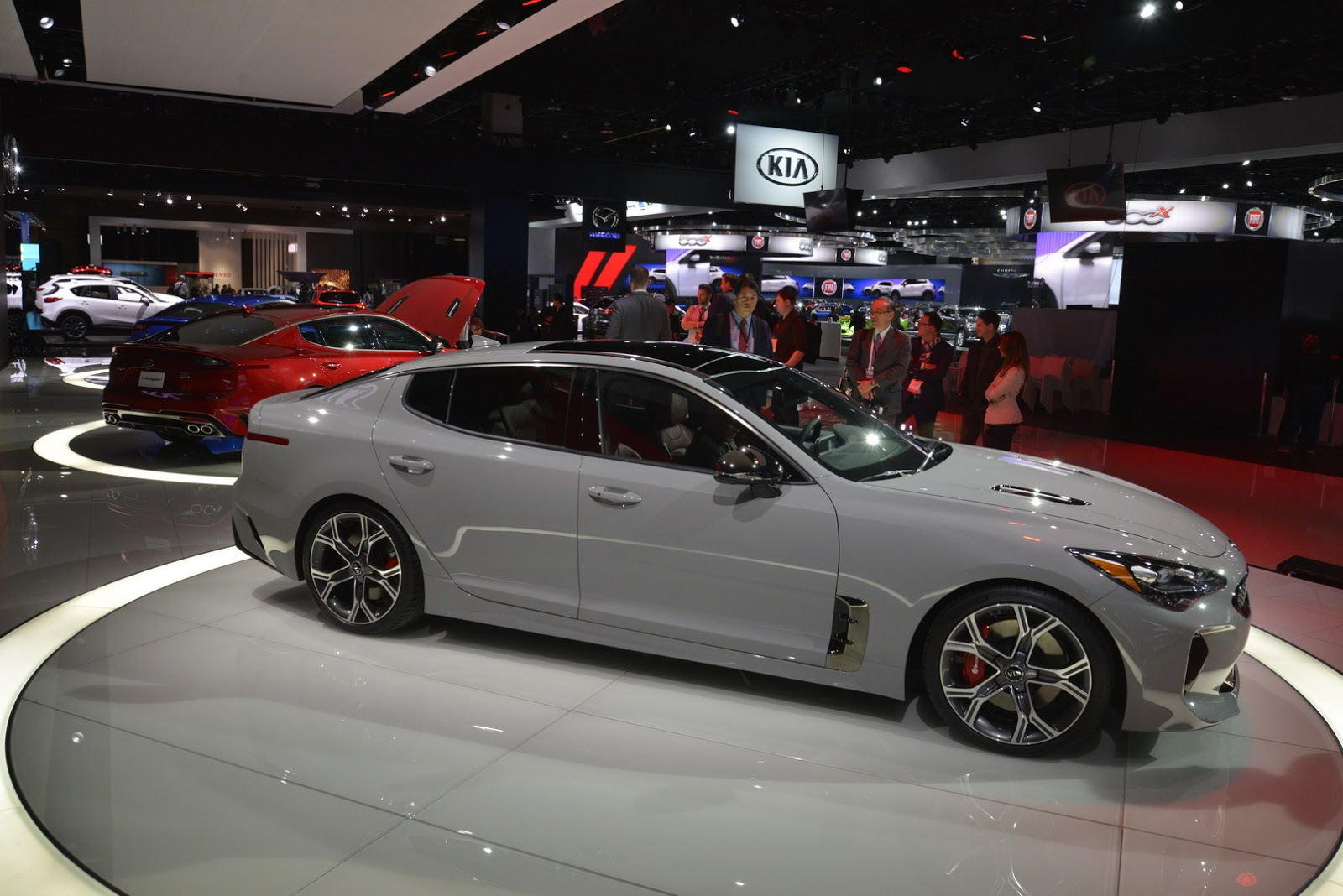New Kia Stinger Shows Off Its Colors In Detroit Carscoops