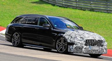 2020 Mercedes-AMG E63 Estate Straps On Production Front End In Time For Track Tests   Carscoops