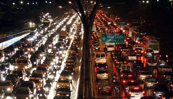 Bildergebnis für traffic jam in São Paulo