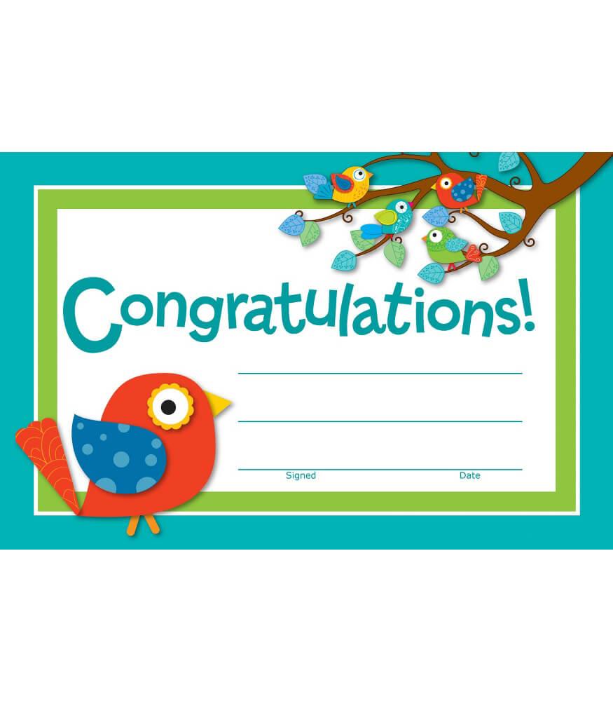 Boho Birds Recognition Awards Grade PK 8 Carson Dellosa